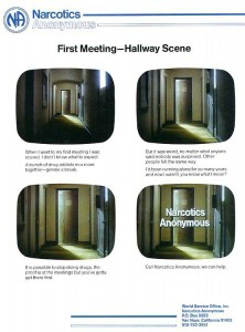 "Story board for ""First Meeting Hallway"" PSA"