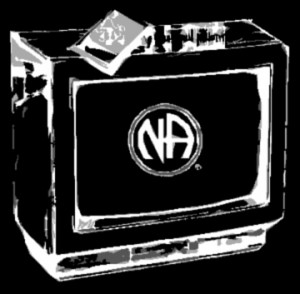 Image of TV seth with NA logo